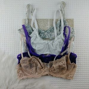 36B Underwire Soft Cup Bralette Bundle
